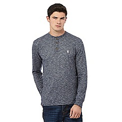 St George by Duffer - Navy textured stripe top