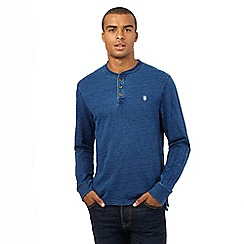 St George by Duffer - Big and Tall dark blue granddad top