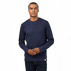 St George by Duffer - Big and Tall navy space dye sweater