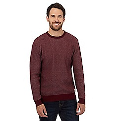 St George by Duffer - Dark red waffle textured jumper