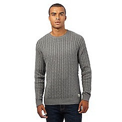 St George by Duffer - Grey cable knit jumper