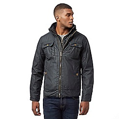 St George by Duffer - Navy double zip coat