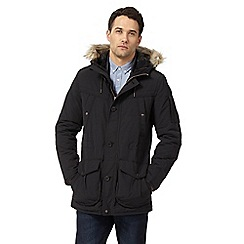 St George by Duffer - Black fur trim parka