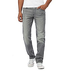 St George by Duffer - Big and tall grey rinse wash straight leg jeans
