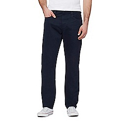 St George by Duffer - Big and tall navy straight fit trousers
