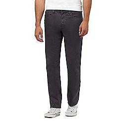 St George by Duffer - Big and tall dark grey straight leg trousers