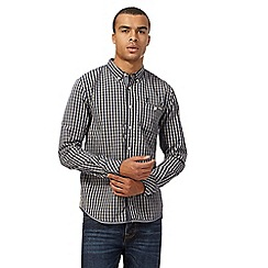 St George by Duffer - Big and tall navy checked shirt