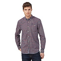 St George by Duffer - Navy and red checked shirt