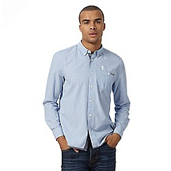 St George by Duffer - Big and tall blue cross shirt