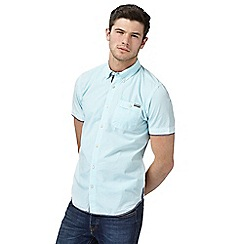 St George by Duffer - Big and tall light blue striped regular fit shirt
