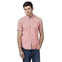 St George by Duffer - Red checked short sleeve shirt