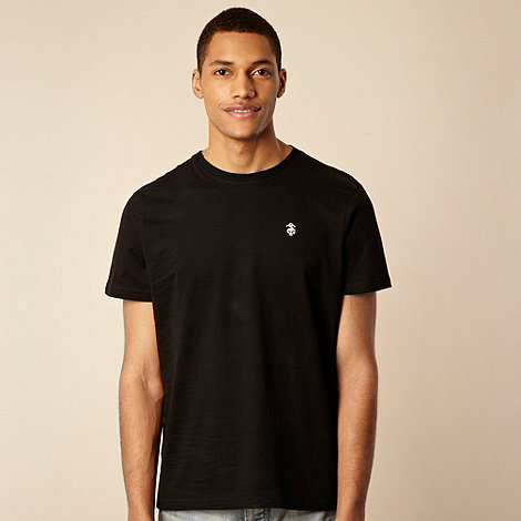 St George by Duffer - Black contrasting logo embroidered t-shirt