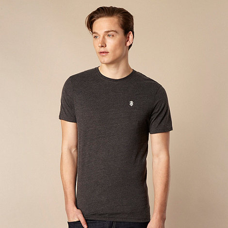 St George by Duffer - Dark grey embroidered logo t-shirt