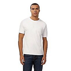 St George by Duffer - Big and tall white embroidered logo t-shirt
