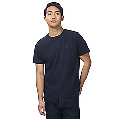 St George by Duffer - Big and tall navy logo embroidered t-shirt