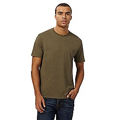 St George by Duffer - Big and tall khaki embroidered logo t-shirt