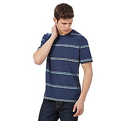 St George by Duffer - Navy striped pocket t-shirt