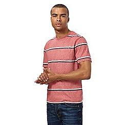 St George by Duffer - Big and tall red wide striped t-shirt