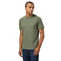 St George by Duffer - Big and tall khaki striped pocket t-shirt