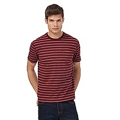 St George by Duffer - Dark red striped pocket t-shirt