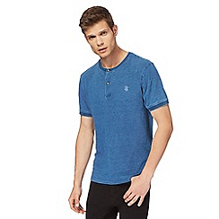 St George by Duffer - Big and tall blue granddad t-shirt