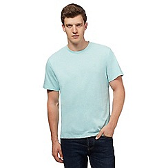St George by Duffer - Big and tall light turquoise marl t-shirt