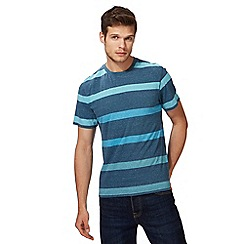St George by Duffer - Big and tall blue striped t-shirt