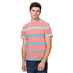 St George by Duffer - Big and tall pink striped print t-shirt