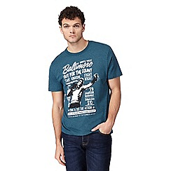 St George by Duffer - Big and tall green boxing graphic print t-shirt
