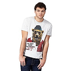 St George by Duffer - Big and tall natural 'do not feed the hipsters' t-shirt