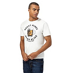 St George by Duffer - Big and tall white 'great minds' print t-shirt