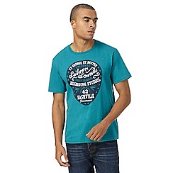 St George by Duffer - Big and tall turqoise silver sounds tee
