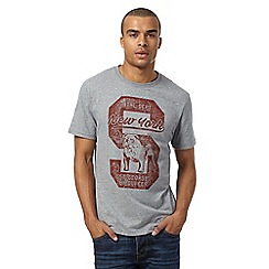 St George by Duffer - Big and tall grey new york bulldog t-shirt