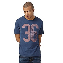 St George by Duffer - Big and tall navy number t-shirt
