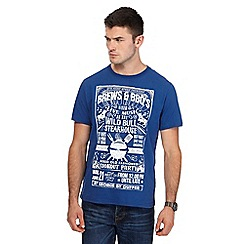 St George by Duffer - Big and tall blue 'bbq' print t-shirt