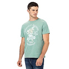 St George by Duffer - Big and tall green baseball 'bulldogs' print t-shirt