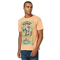 St George by Duffer - Big and tall orange graphic print t-shirt