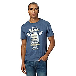 St George by Duffer - Big and tall blue slogan print t-shirt