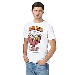 St George by Duffer - Big and tall white beer pong print t-shirt