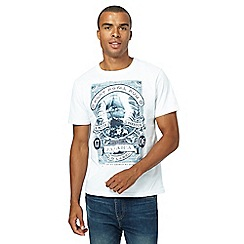 St George by Duffer - Big and tall white graphic print t-shirt