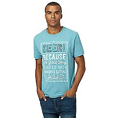 St George by Duffer - Light turquoise printed t-shirt