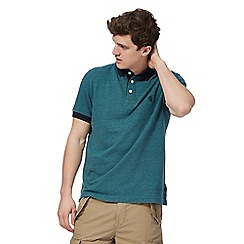 St George by Duffer - Big and tall green tipped polo shirt