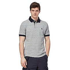 St George by Duffer - Big and tall grey contrasting trim polo shirt