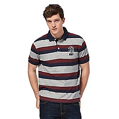 St George by Duffer - Big and tall multi-coloured striped polo shirt