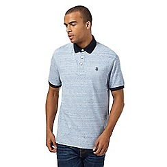 St George by Duffer - Big and tall light blue space dye polo shirt