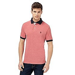 St George by Duffer - Pink logo embroidered polo shirt