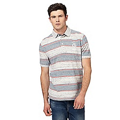 St George by Duffer - Big and tall grey feeder block polo shirt
