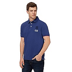 St George by Duffer - Navy embroidered logo polo shirt