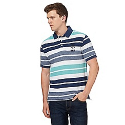 St George by Duffer - Big and tall multi-coloured block striped polo
