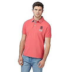 St George by Duffer - Big and tall pink embroidered logo polo shirt